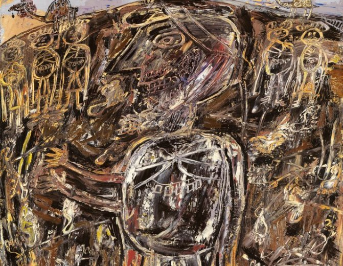 Arab With Footprints - Dubuffet - 1948